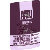 AATU For Cats Chicken & Quail Wet Pouches 85g x 16