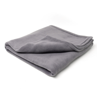 Charley Chau Double Fleece Smoke Grey Dog Blanket