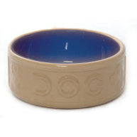 Mason Cash Bluecane Lettered Ceramic Dog Bowl