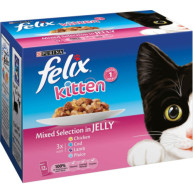 Felix Fish & Meat Selection In Jelly Pouch Kitten Food