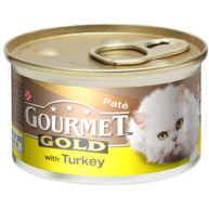 Gourmet Gold Pate with Turkey Cat Food 85g x 12