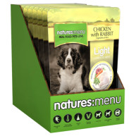 Natures Menu Light Chicken & Rabbit Adult Dog Food Pouches 300g x 8