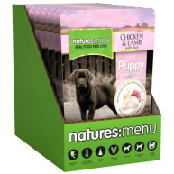 Natures Menu Chicken Lamb & Rice Puppy Food Pouches 300g x 8