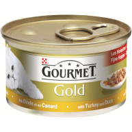Gourmet Gold Turkey & Duck Cat Food 85g x 12