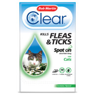 Bob Martin Flea Clear Spot On Cat 3 tubes