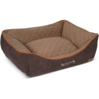 Scruffs Thermal Box Dog Bed in Brown