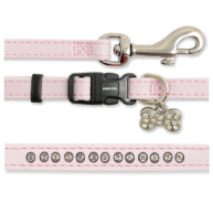 Ancol Small Bite Diamante Deluxe Collar & Lead Puppy Set