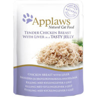 Applaws Chicken with Liver In Jelly Pouch Adult Cat Food 70g x 16
