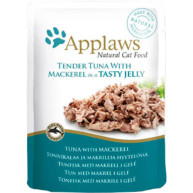 Applaws Tuna with Mackerel In Jelly Pouch Adult Cat Food 70g x 16