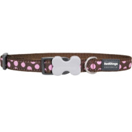 Red Dingo Dog Collar Brown & Pink Spots