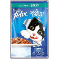 Felix As Good As It Looks Tuna In Jelly Cat Food 100g x 20