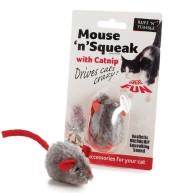 Sharples Pet Mouse n Squeak Catnip Cat Toy