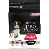 PRO PLAN OPTIDERMA Salmon Sensitive Skin Medium Puppy Food 3kg