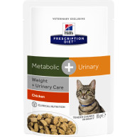 Hills Prescription Diet Feline Metabolic + Urinary Pouches 85g x 60
