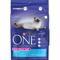 Purina ONE Chicken & Wheat Light Adult Cat Food 3kg