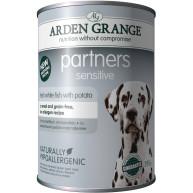 Arden Grange Partners Sensitive Fish & Potato Adult Dog Food 395g x 6