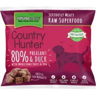 Natures Menu Country Hunter Complete Pheasant & Duck Nuggets Raw Frozen Dog Food
