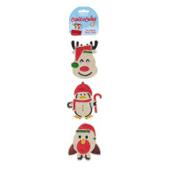 Rosewood Cupid & Comet Paw Licking Christmas Dog Treats 3 Pieces