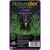 Naturediet Lamb Vegetables & Rice Dog Food 390g x 72