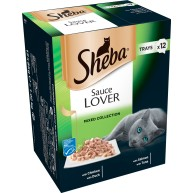 Sheba Sauce Lover Mixed Collection Adult Cat Food 85g x 12