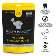 Billy & Margot Venison Marrow Bones Treats for Dogs