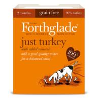 Forthglade Just Turkey Grain Free Dog Food 395g x 18