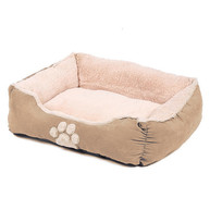 Happy Pet Hugs Square Latte Dog Bed