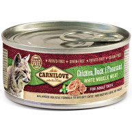 Carnilove Chicken, Duck & Pheasant Wet Adult Cat Food 100g x 6