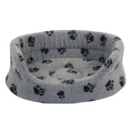Danish Design Fleecy Grey Slumber Dog Bed