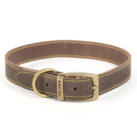 Ancol Timberwolf Sable Leather Dog Collar