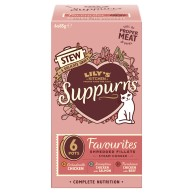 Lilys Kitchen Suppurrs Favourites Multipack Stews Wet Cat Food