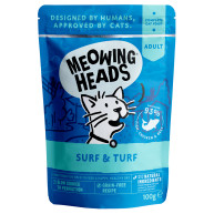 Meowing Heads Surf & Turf Wet Cat Food 100g x 10