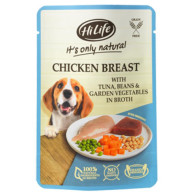 HiLife Its Only Natural Chicken Breast, Tuna & Veg in Broth Adult Dog Food