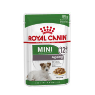 ROYAL CANIN Mini Ageing Wet Dog Food Pouches 12+ in Gravy