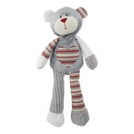 Rosewood Luxury Silver Plush Benji Christmas Bear Dog Toy