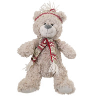 Rosewood Luxury Silver Plush Christmas Polar Bear Dog Toy