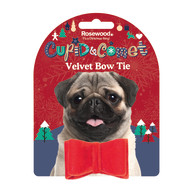 Rosewood Luxury Velvet Christmas Bow Tie for Dogs