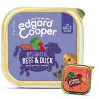 EdgardCooper Beef & Duck Grain Free Wet Adult Dog Food 150g x 11