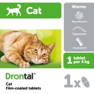 Drontal Cat Worming 1 tablet NFA-C