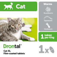 Drontal Cat XL Worming Tablets 1 tablet NFA-C