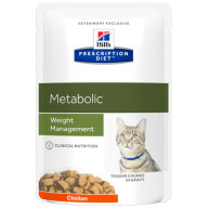 Hills Prescription Diet Feline Metabolic Pouches 85g x 12