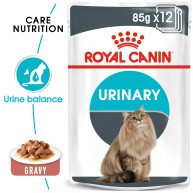 Royal Canin Urinary Care in Gravy Adult Wet Cat Food Pouches 85g x 12