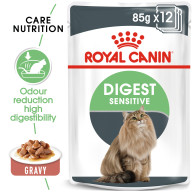Royal Canin Digest Sensitive Care in Gravy Adult Wet Cat Food Pouches