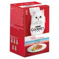 Gourmet Mon Petit Fish Recipes Pouches Adult Cat Food 50g x 48