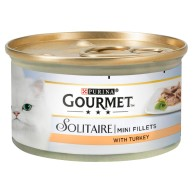 Gourmet Solitaire Turkey Fillets Cat Food 85g x 12
