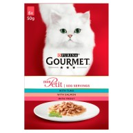 Gourmet Mon Petit Fish Pouches Adult Cat Food 50g x 48