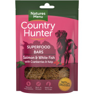 Natures Menu Country Hunter Salmon & White Fish with Cranberries & Kelp Superfood Bar Dog Treat