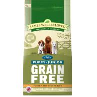 James Wellbeloved Grain Free Turkey Puppy & Junior Dry Food