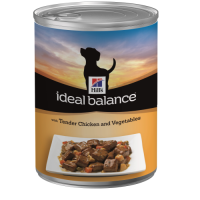 Hills Ideal Balance Adult Dog Cans 363g x 12 Chicken & Vegetable