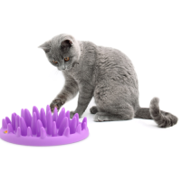 Northmate Catch Interactive Cat Slow Feeder Purple